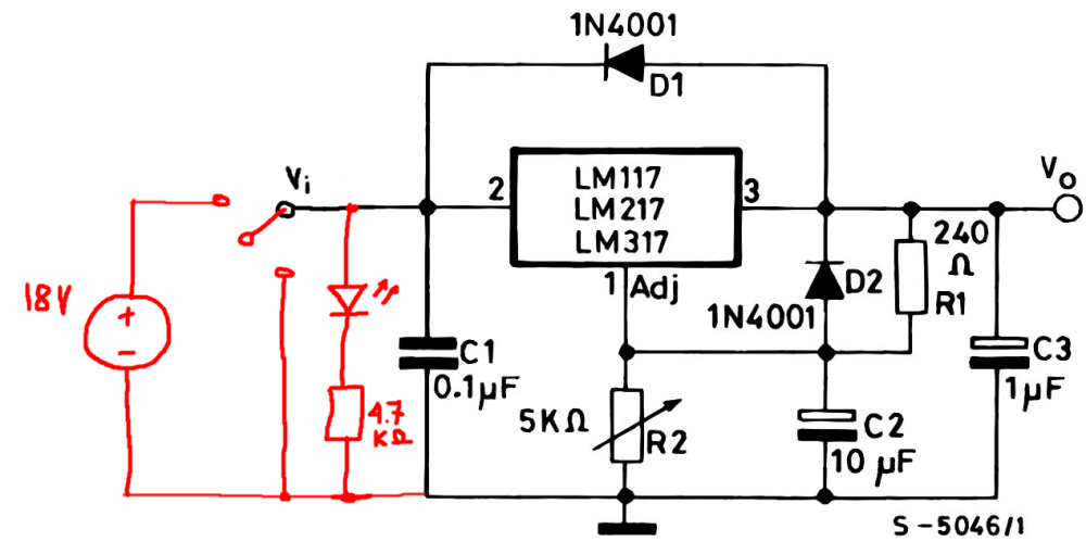 medium resolution of power supply add on off indicator led to circuit electrical engineering stack exchange