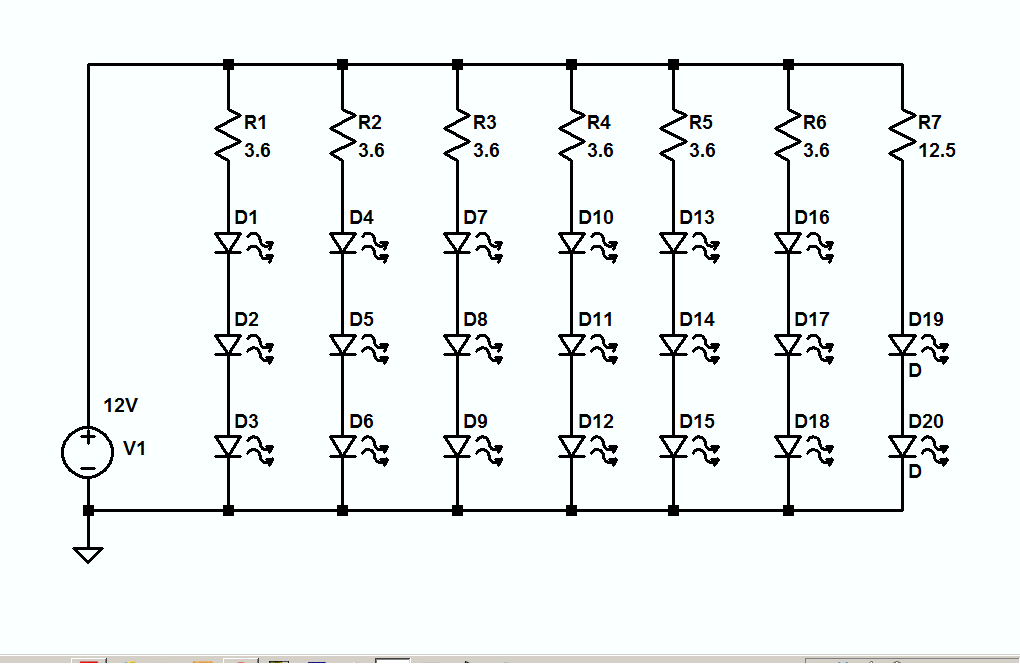 wiring leds in parallel