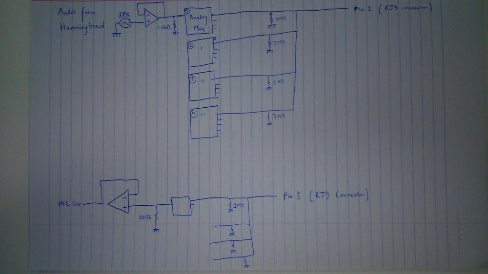 medium resolution of analog audio switching circuit ground loop noise problem rj9 to 3 5mm wiring diagram