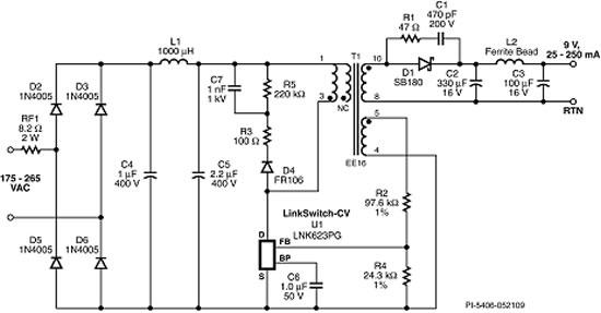 voltage 230v ac to 5v dc converter lossless electrical