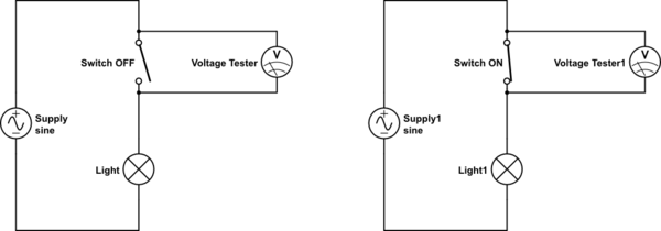 positions of the switch and the battery were swapped in the circuit
