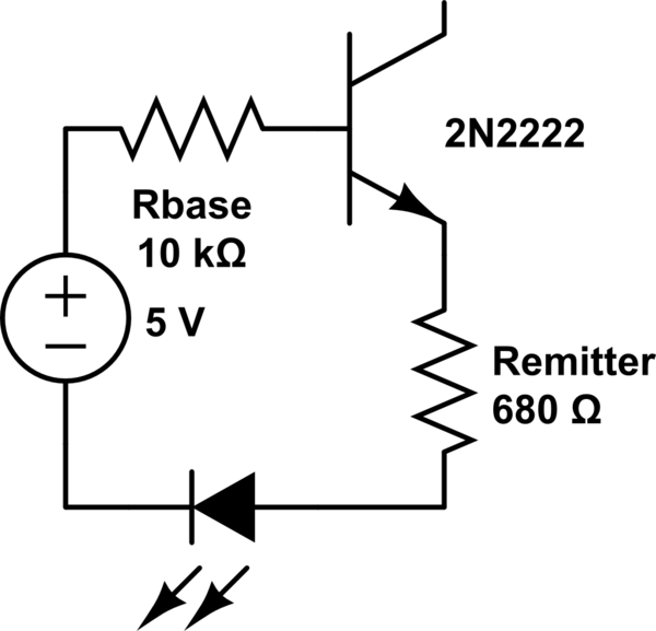 How does a transistor work when collector is disconnected