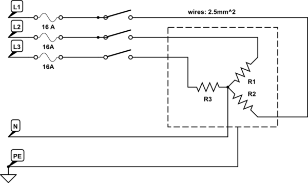 V Electric Heating Wiring Diagram Heat Controlling Three Phase Heating Element