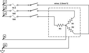 heat  Controlling three phase heating element