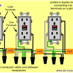 Double Outlet Wiring Diagram Kenwood Kdc 355u Electrical Can I Add A Standard Receptacle On Gfci Circuit Enter Image Description Here