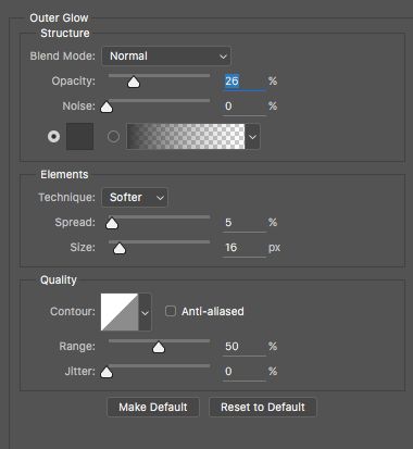 text outer glow effect