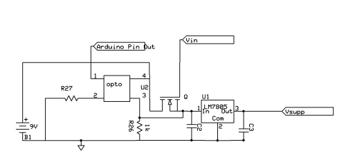 small resolution of arduino photocoupler to latch microcontroller power supply latching circuit diagram enter image description here