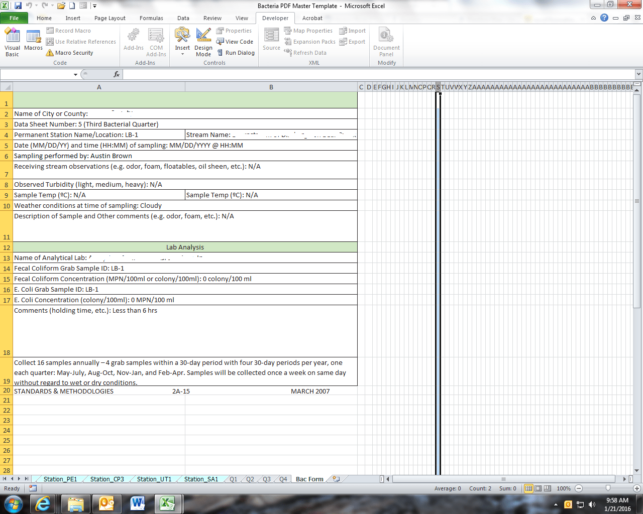 Excel Is Altering Format Of Worksheets During Vba