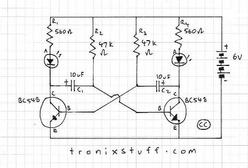 flasher circuit 12v