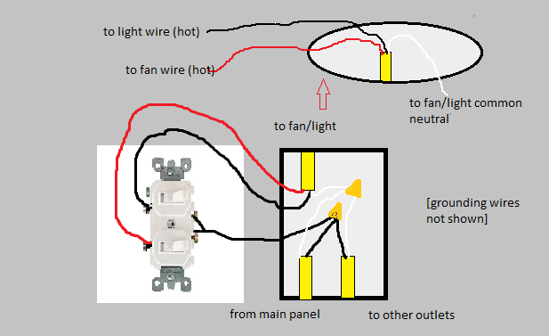 double pole light switch wiring diagram  wiring diagram for