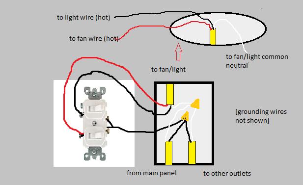 switch diagram single pole dual switch light wiring diagram