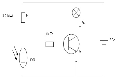 Why is a transistor used in a night sensor circuit