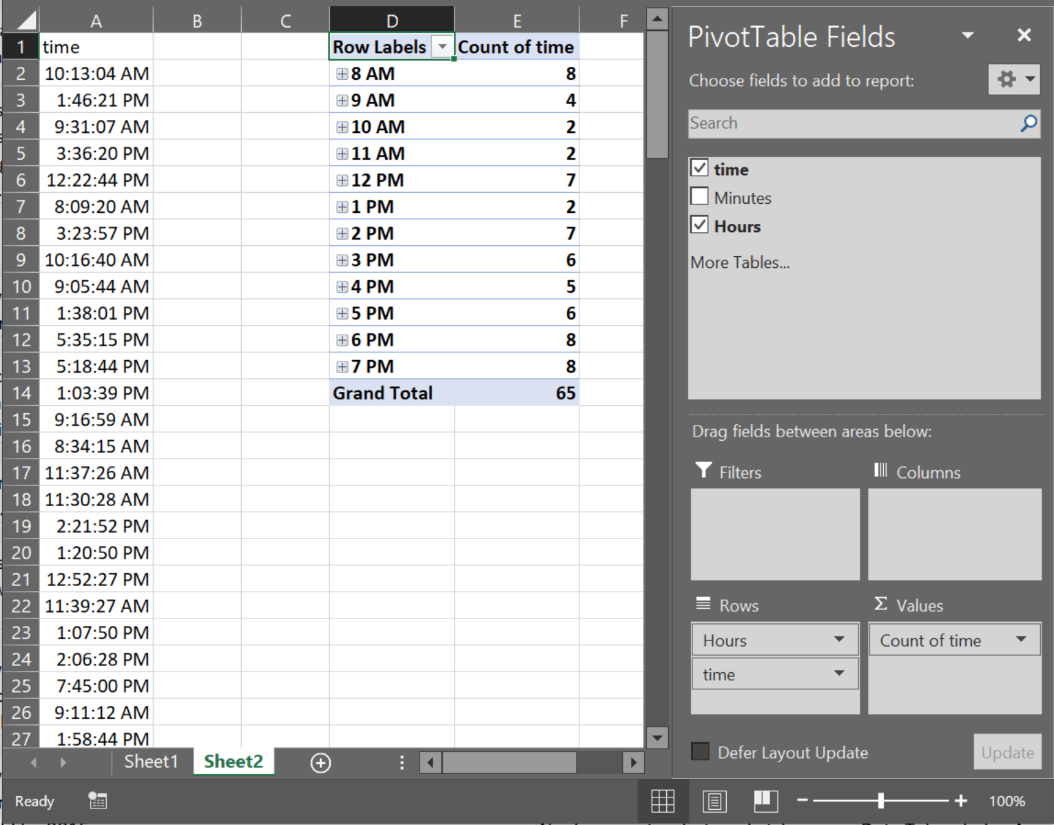 How Can I Count How Many Cells In An Excel Spreadsheet