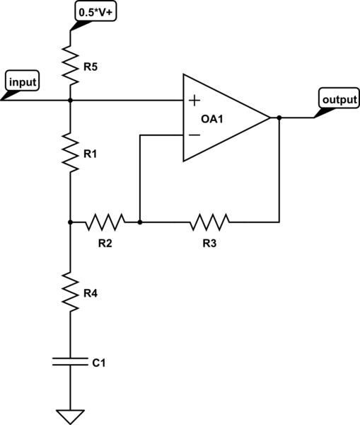 opamp circuit analysis using a transfer function