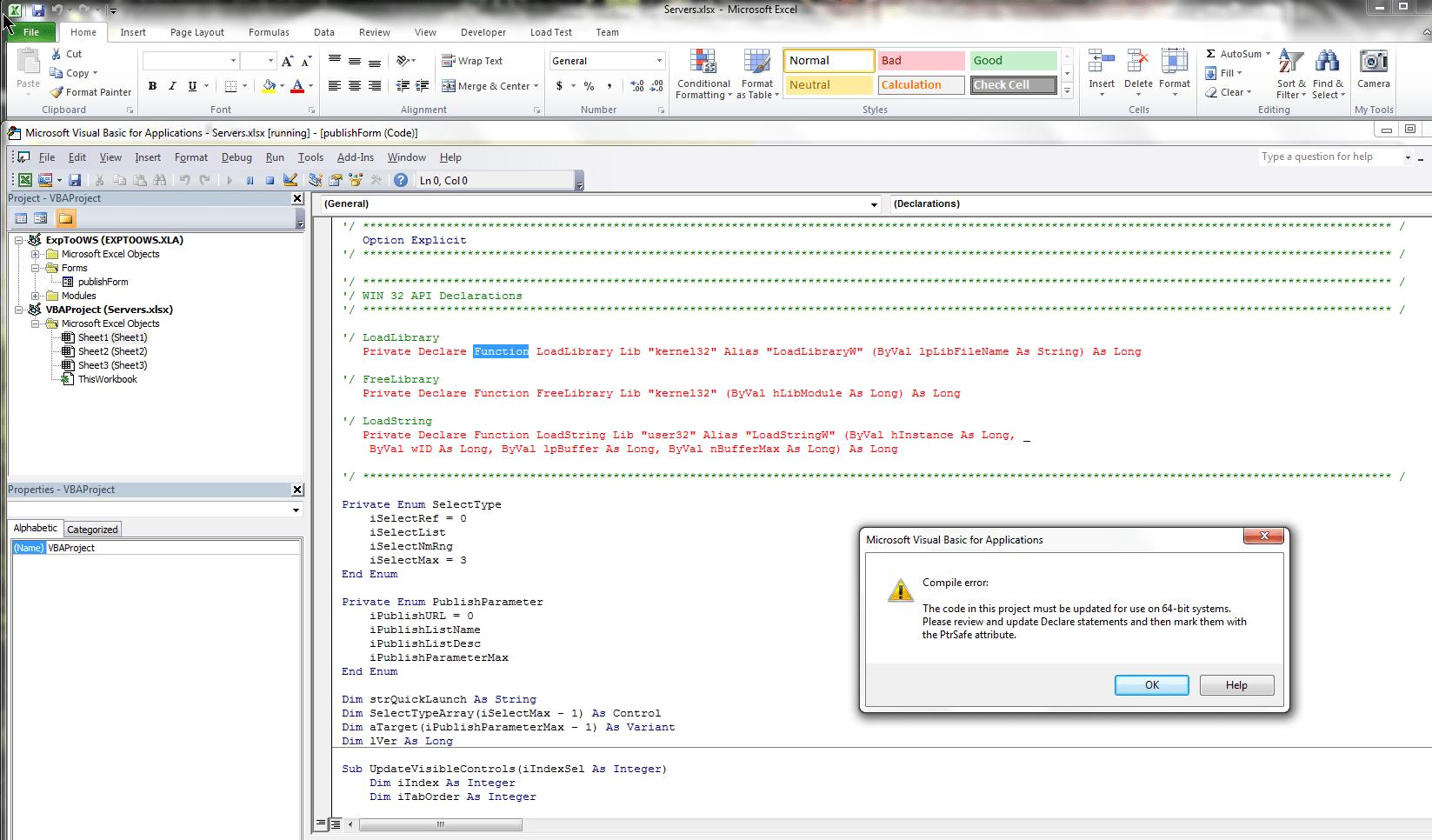 Import Excel As List Fails