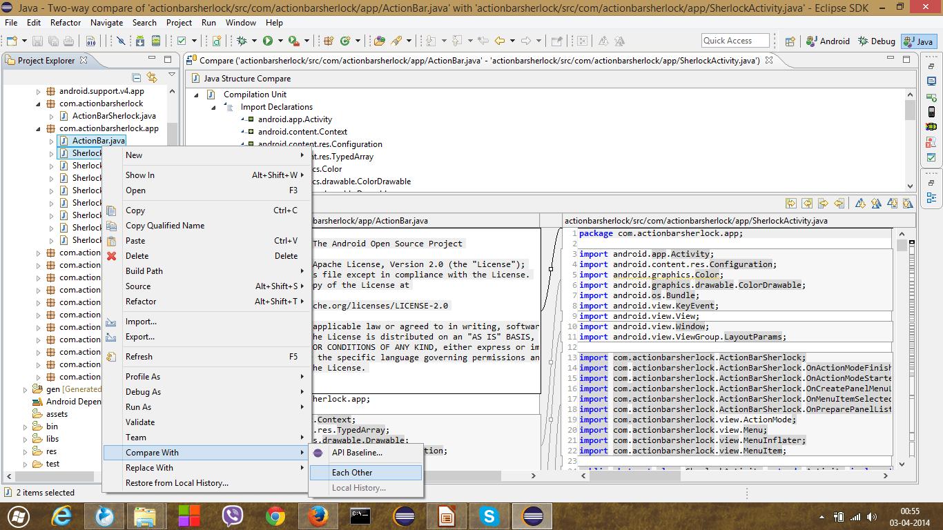How Do I P Re Two Files Us G Eclipse Is Re Ny Opti