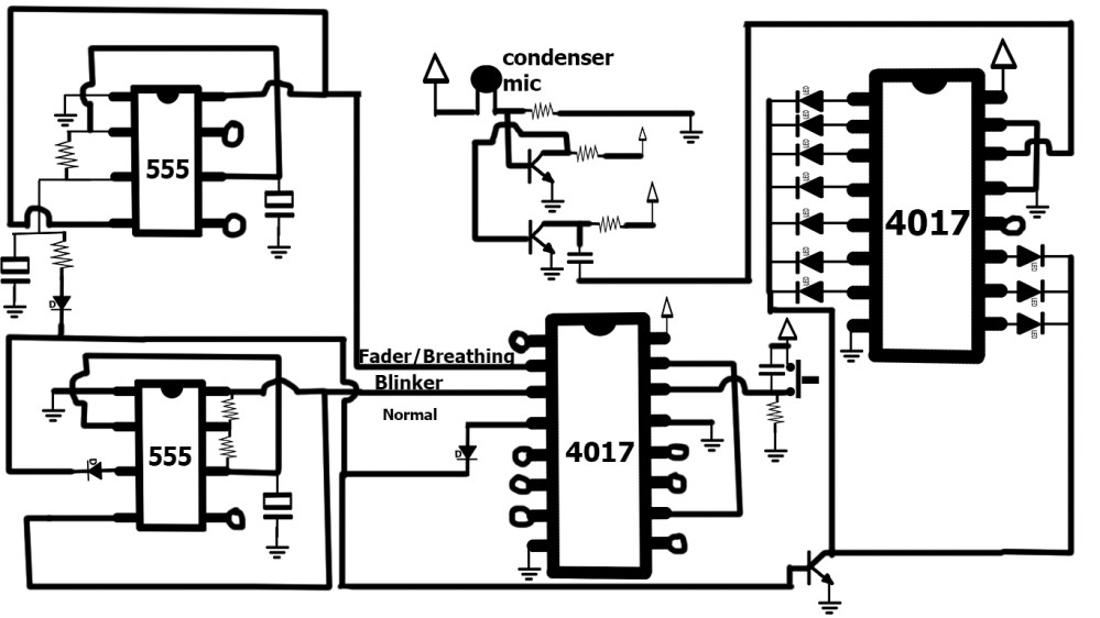 medium resolution of cd4017 with multiple leds