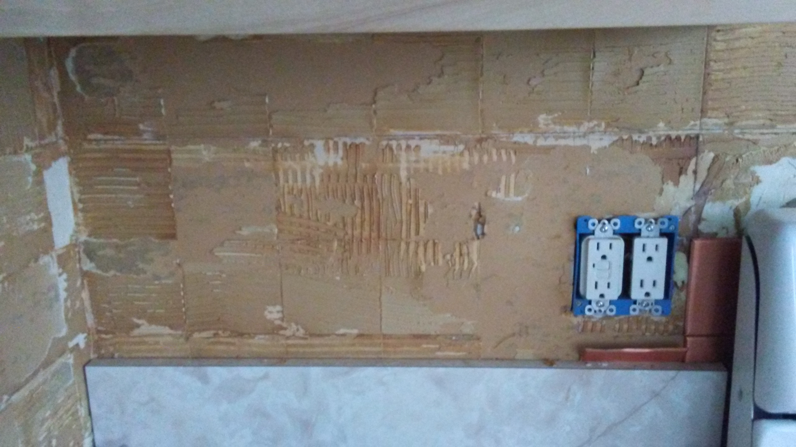 tile kitchen mega system walls - how to remove