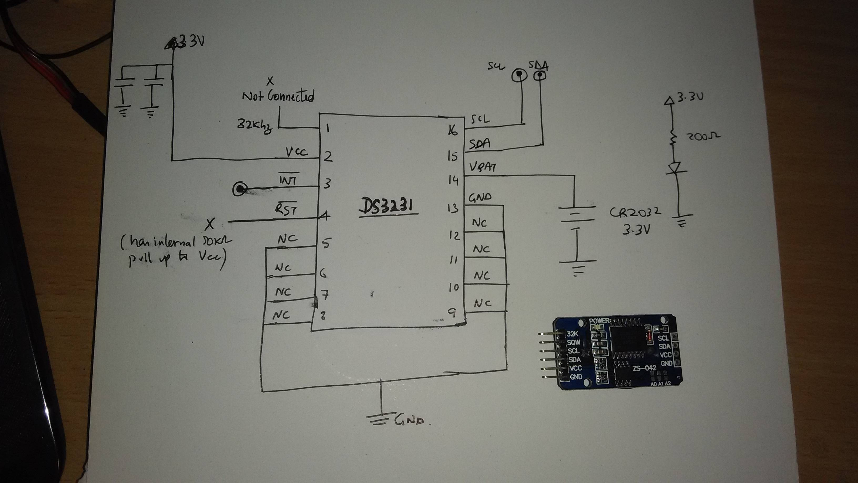 led circuit diagram sub panel wiring garage embedded - ds3231 module teardown electrical engineering stack exchange