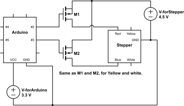 long s stepper motor wiring diagram network how to connect a with exactly 4 wires arduino schematic
