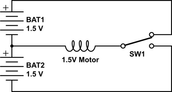 DC Motor + 9 V battery + 270 ohm resistor = Nothing (Motor