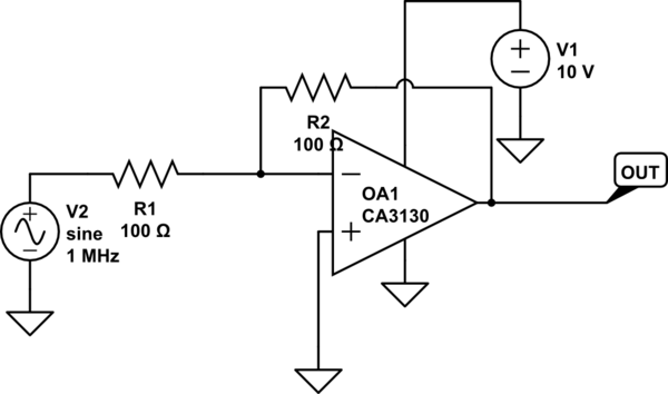 Single Suppy Opamp for inverting amplifier produce