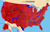 United States - Line Of Counties Voting