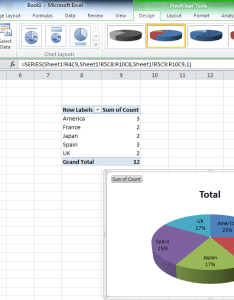 Pivot table data and create your pie chart as usual enter image description here also  from distinct values in one column by grouping rh superuser