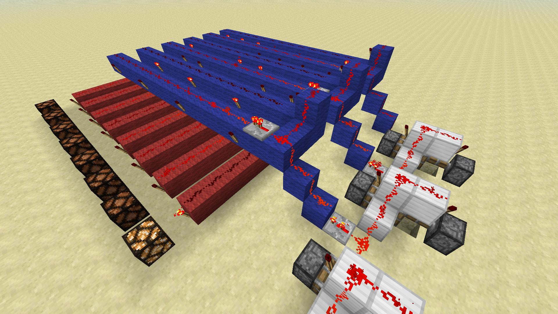 Minecraft How To Build A Two Bit Binary To Decimal Decoder Using