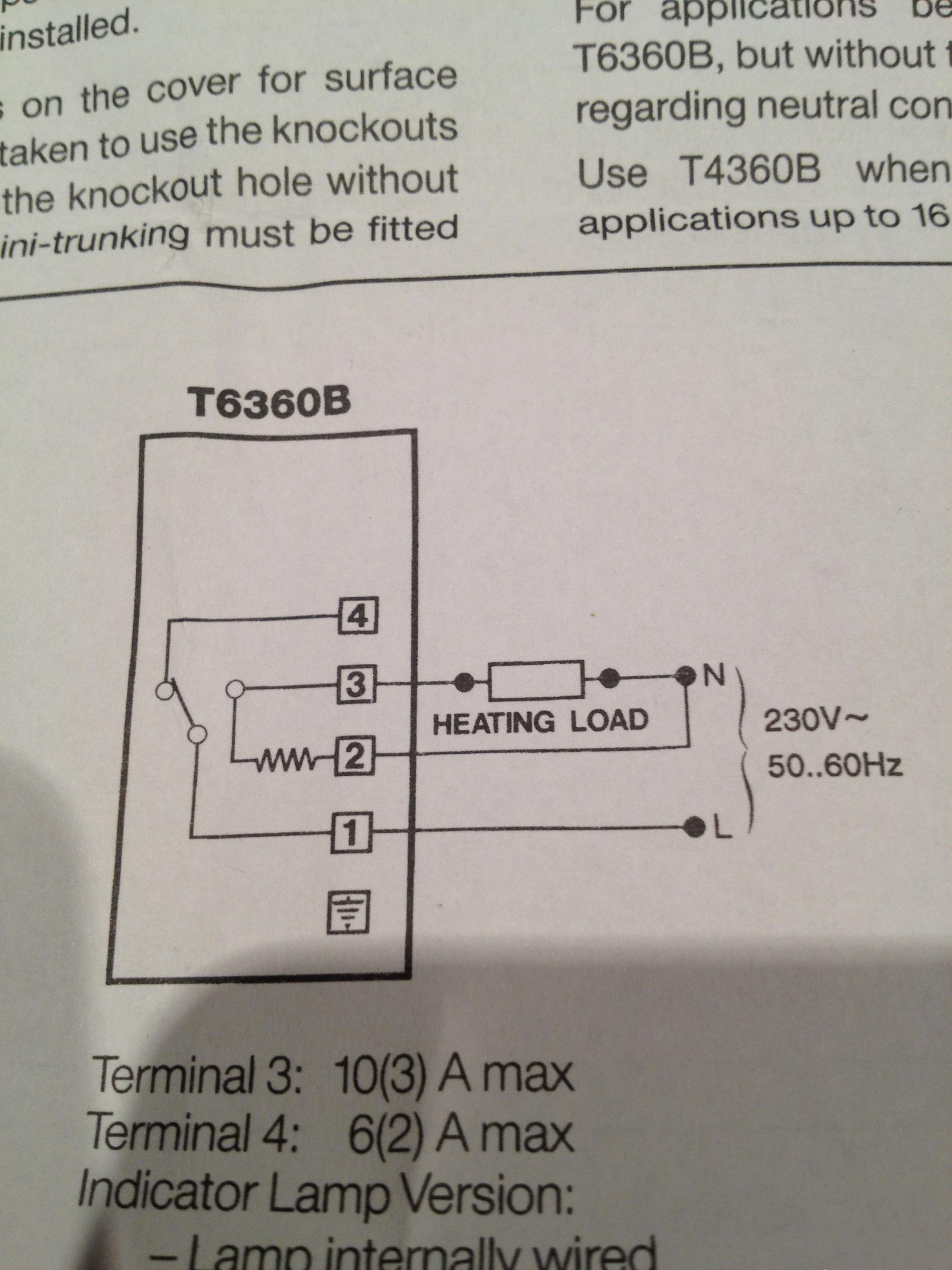 Wiring Honeywell T6360 Room Thermostat