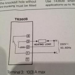 Honeywell T6360 Room Thermostat Wiring Diagram John Deere Skid Steer Diagrams Follow Installation