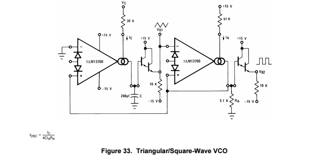 Help understanding frequency calculation for VCO Schematic
