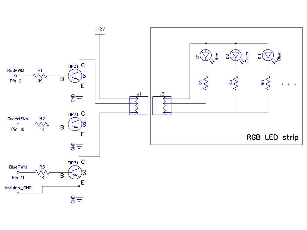 led wiring diagrams dodge ram 2500 diagram running with schematic arduino 7 color blinking