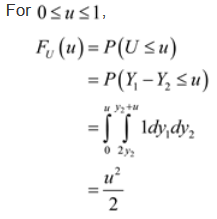 Functions of two variables: Method of Distribution