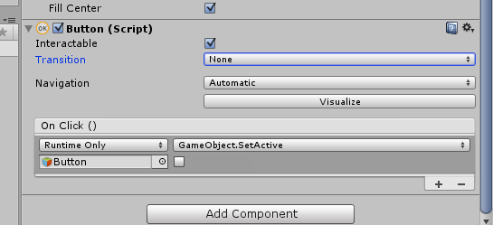 c# - Hide Button in unity3d - Stack Overflow