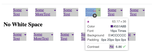 css - Reduce list items width to occupy exact size of text content in Internet Explorer 11 - Stack Overflow