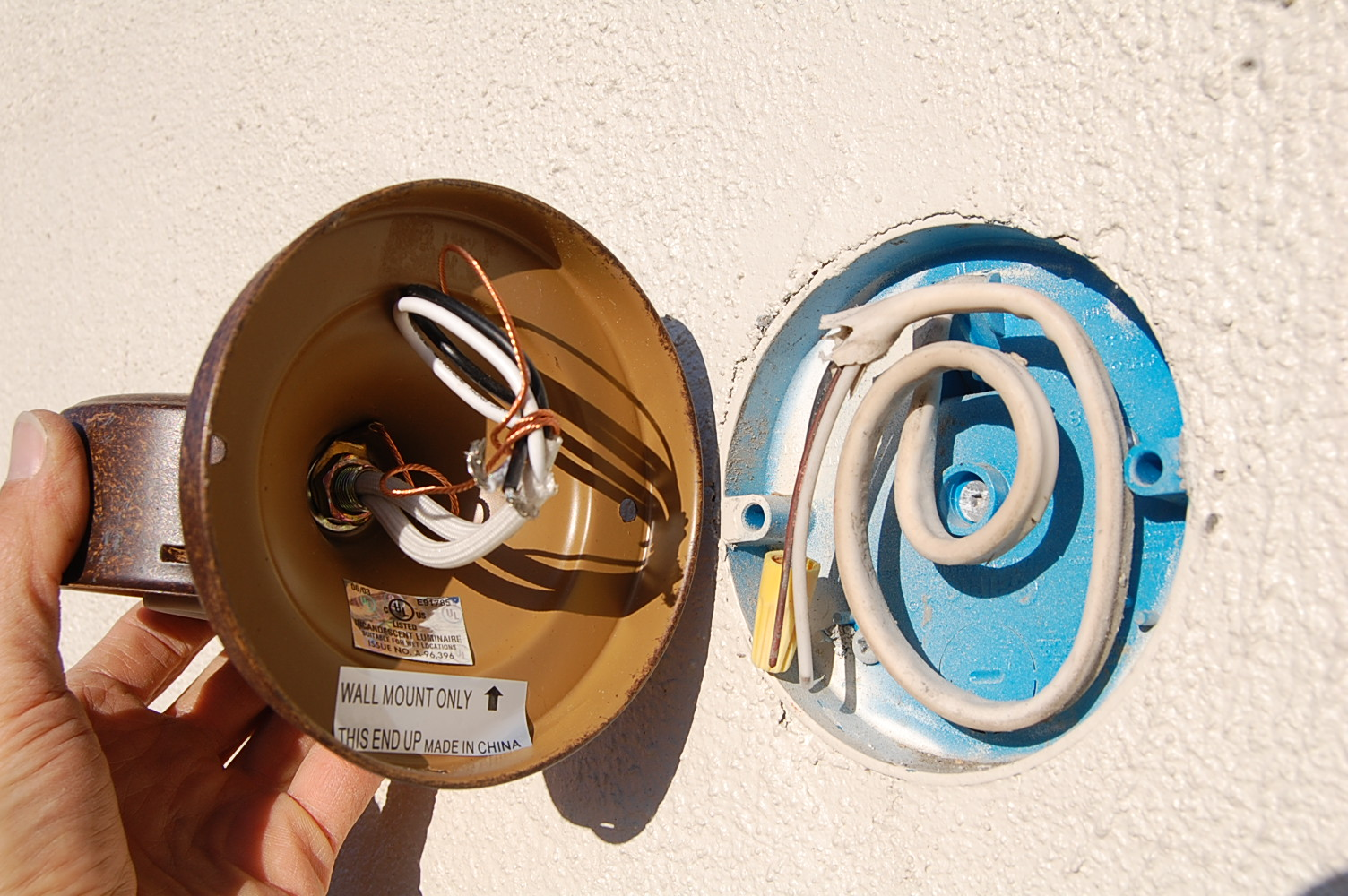 hight resolution of electrical how do i seal around an outdoor rated wall mounted exterior wiring house wiring for outside wall lights