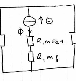 magnetic circuit diagram electromagnetism magnetics electromagnetic [ 2103 x 1132 Pixel ]