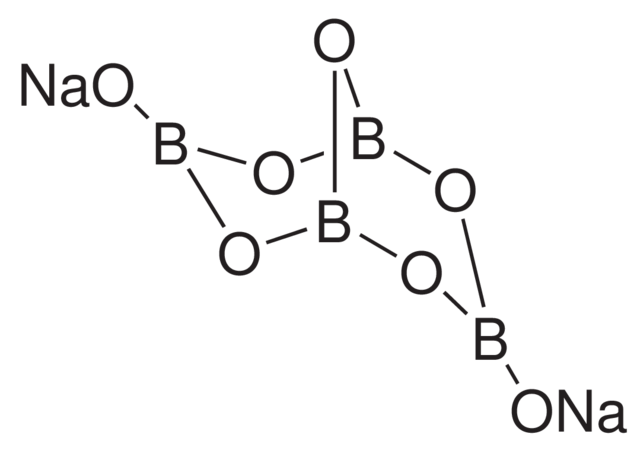 Borax Crystal Chemical Structure | Pin It