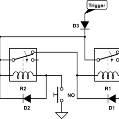 24v Starter Relay Wiring Diagram Kenwood Dnx8120 Switches Turn A Load On With Pulse Of Power Keep Until No Schematic