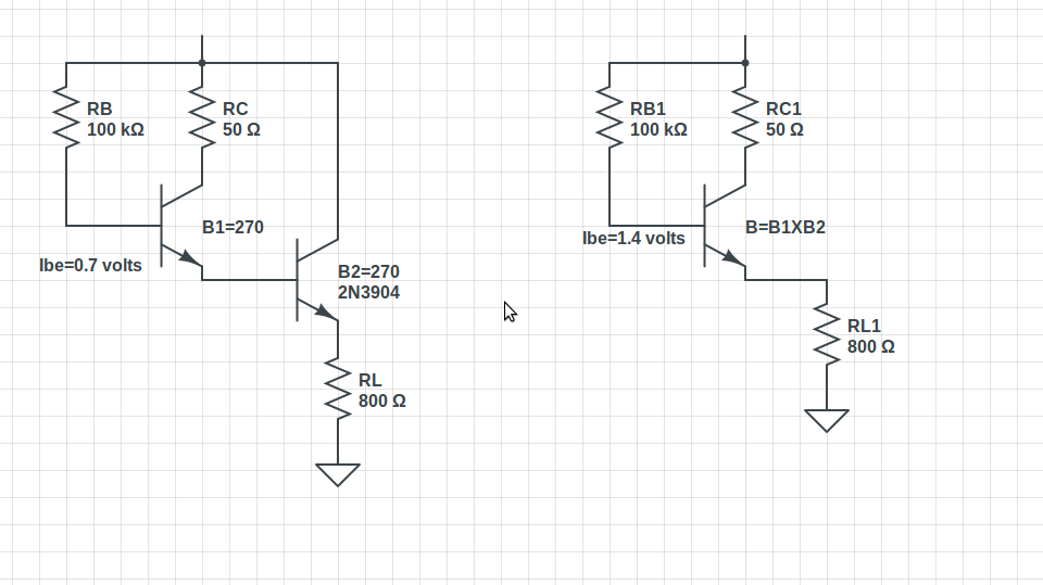 The Darlington Pair Circuit Schematic Diagram