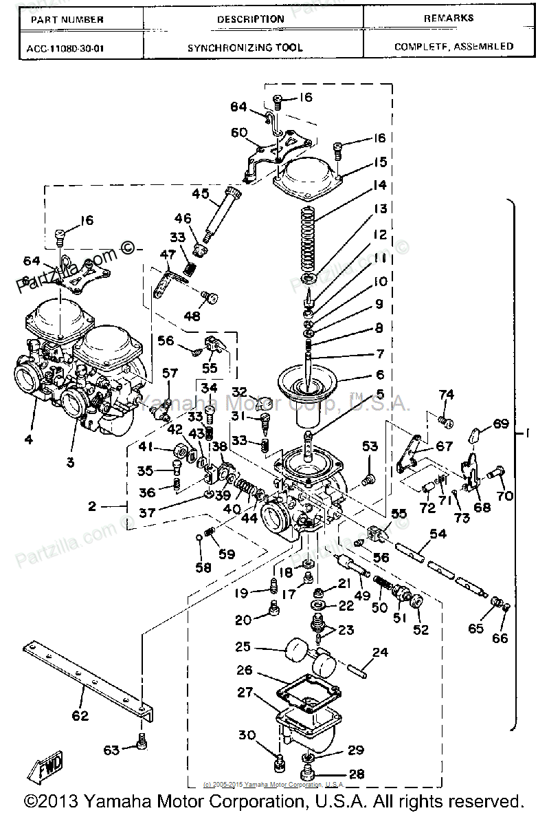 yamaha mikuni carburetor diagram