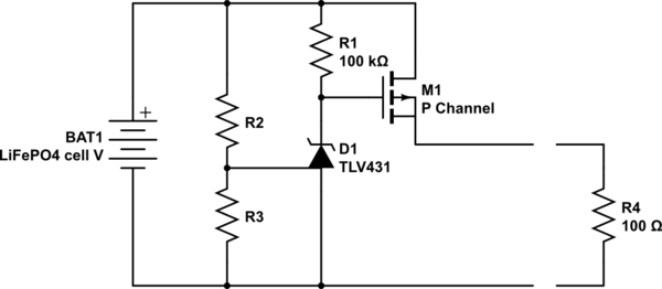 MOSFET for reverse polarity protection of a LiFePO4