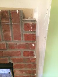 fireplace - Tile over brick...with a problem - Home ...