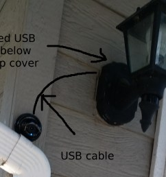 camera installation with imitated usb cable  [ 2976 x 1672 Pixel ]