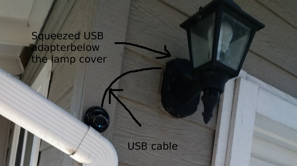 medium resolution of camera installation with imitated usb cable