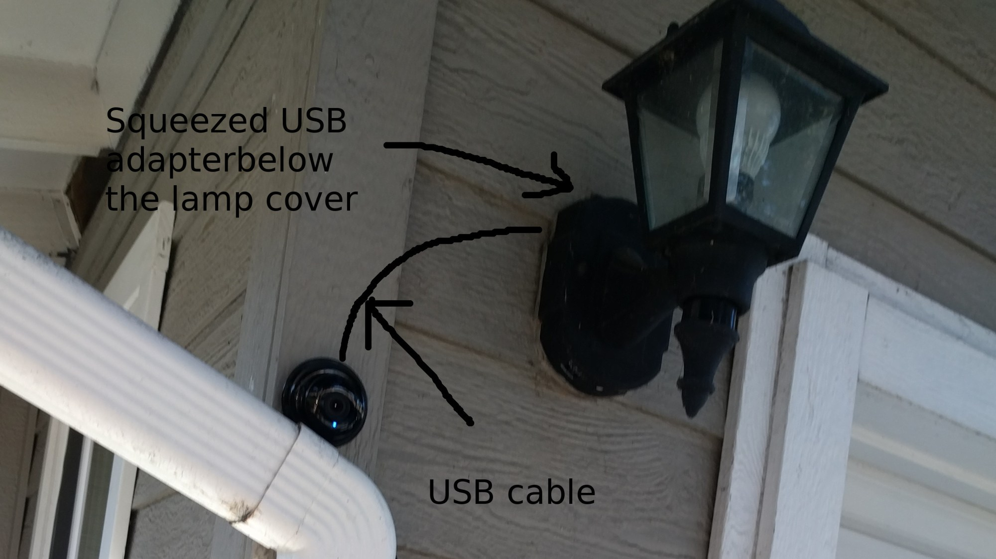 hight resolution of camera installation with imitated usb cable