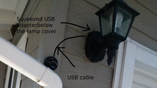 small resolution of camera installation with imitated usb cable