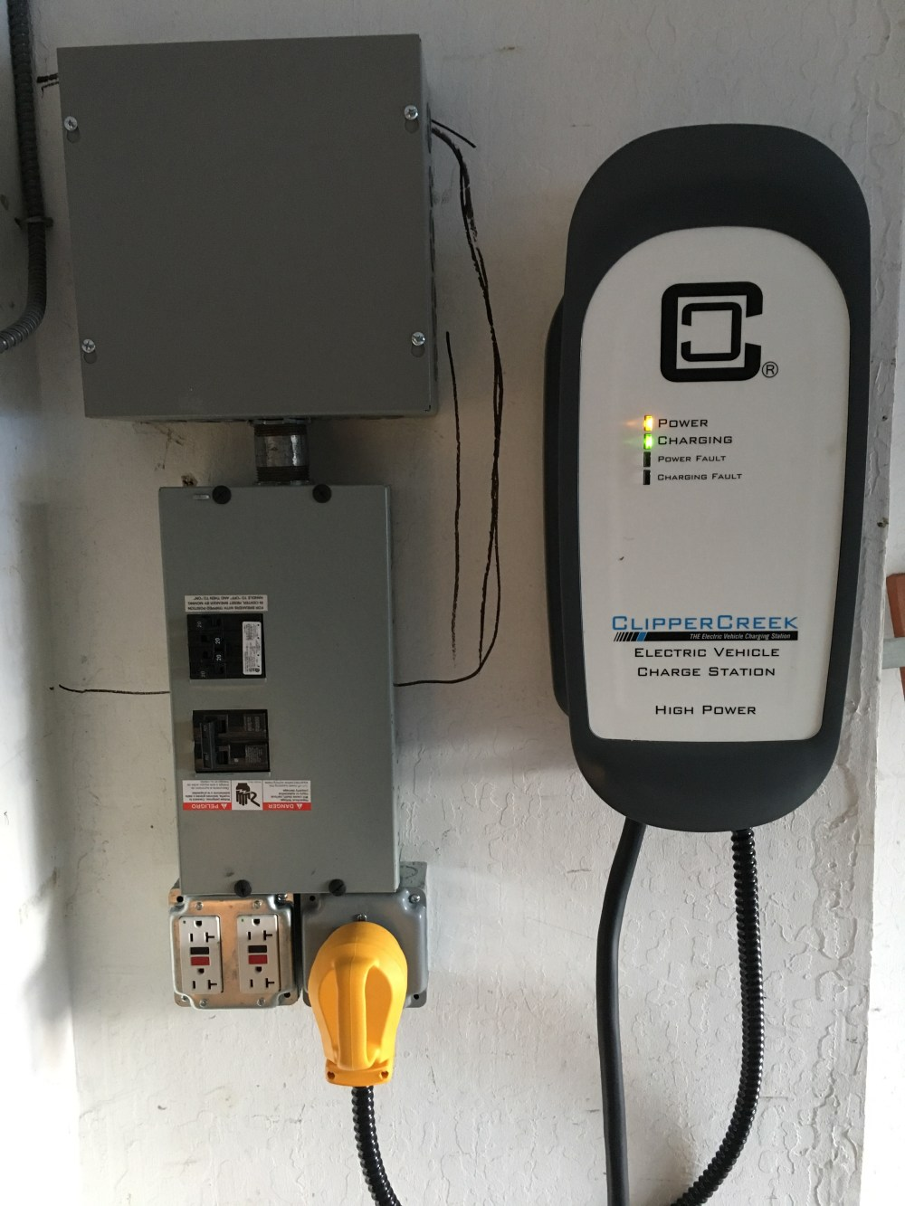 medium resolution of overview of garage sub panel with tapping junction box
