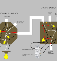 picture of ceiling box and wall box wiring [ 3400 x 2200 Pixel ]